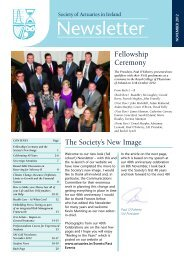 Newsletter November 2012 - Society of Actuaries in Ireland