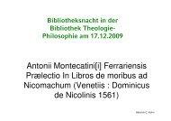 Ferrariensis Praelectio In Libros de moribus ad Nicomachum