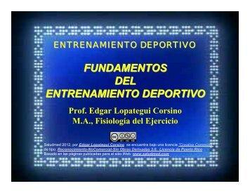 FUNDAMENTOS DEL ENTRENAMIENTO DEPORTIVO - Saludmed