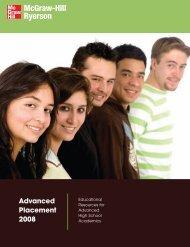 Advanced Placement 2008 - McGraw-Hill Ryerson