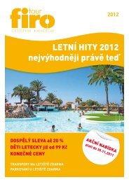 Stáhnout katalog Letní hity 2012 ve formě PDF - FIRO-tour, a.s.