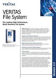 VERITAS File System™ - Eval.veritas.com