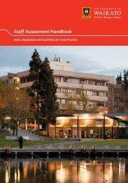 Staff Assessment Handbook - The University of Waikato