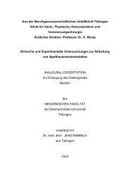 Klinische und experimentelle Untersuchungen zur Abheilung von ...