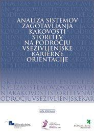 ANALIZA ZAGOTAVLJANJA KAKOVOSTI - Zavod RS za zaposlovanje