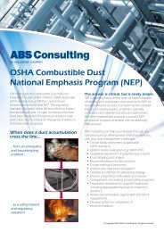 OSHA Combustible Dust National Emphasis ... - ABS Consulting