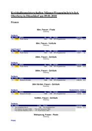 Kreishallenmeisterschaften Männer/Frauen/mJgA ... - LVN Oberberg