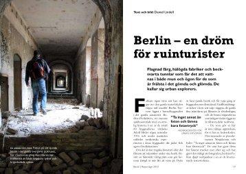 Berlin – en dröm för ruinturister