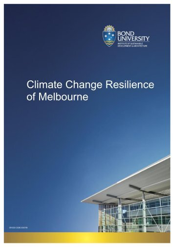 Climate Change Resilience of Melbourne - The Climate Institute