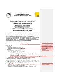 Interdisziplinäre Lehrveranstaltungen - CePoL/MC NAWI Graz