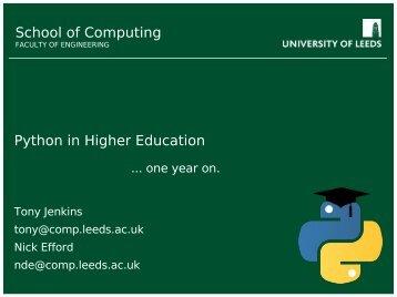 Cool Python Stuff - School of Computing - University of Leeds