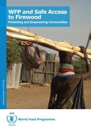 WFP and Safe Access to Firewood (2010) - Food Security Clusters