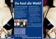 Flyer_JU Coesfeld - (CDU) Kreisverband Coesfeld