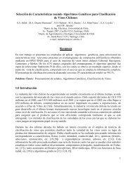 Selección de Características usando Algoritmos Genéticos para ...