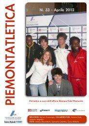 PiemontAtletica n.33, aprile 2012 - Fidal Piemonte