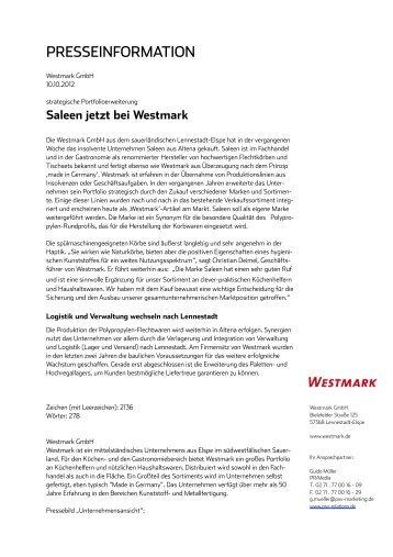 Pressebericht - Westmark