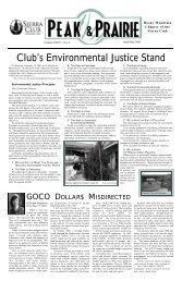 April/May 2001 (pdf) - Sierra Club Rocky Mountain Chapter