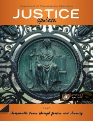 Sustainable Peace through Justice and Security