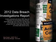 2012 Data Breach Investigations Report - Phoenix ISSA