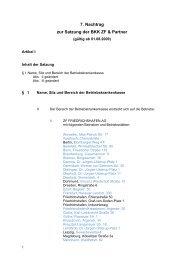 7. Nachtrag zur Satzung Kv - genehmigt - mit ... - BKK ZF & Partner