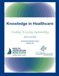 Knowledge in Healthcare - Health Promotion Clearinghouse