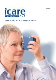 Icare ONE manual in English - Icare Finland