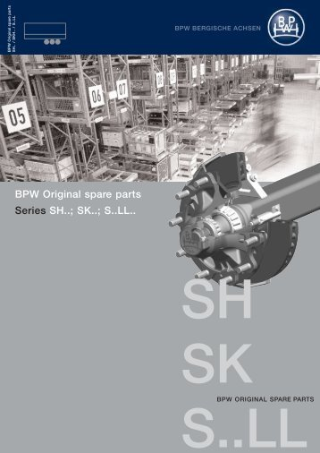 BPW original spare parts - Series SH.. SK.. S..LL..