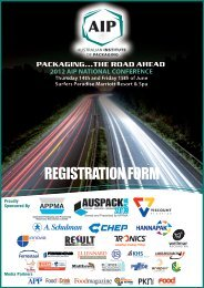 AIP National Conference - Australian Institute of Packaging