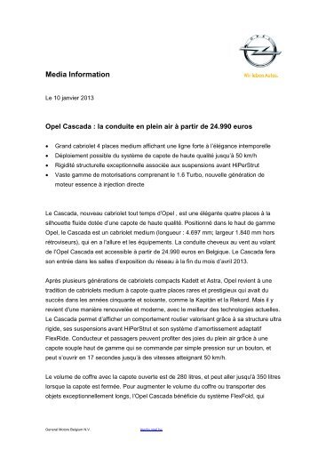 Opel Media Information - ACCURO
