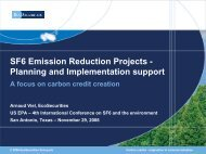 SF6 Emission Reduction Projects -Planning and Implementation ...
