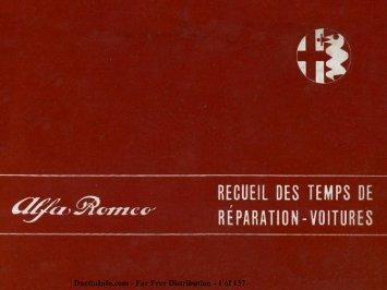 Recueil Des Temps De Réparation - Voitures - Duettoinfo