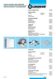 ventilatoren und zubehör ventilateurs et accessoires - Trivent AG