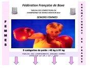 repos - Fédération Française de Boxe