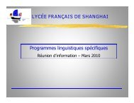 dans les deux langues - Lycée français de Shanghai
