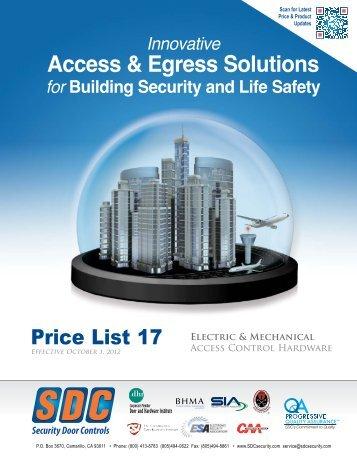 Access & Egress Solutions - SDC Security Door Controls