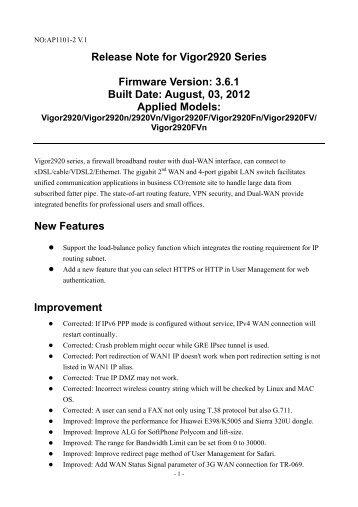 DrayTek Vigor2830n (Annex B 246302) Router Driver for Windows 10