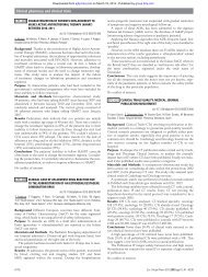 Clinical pharmacy and clinical trials - European Journal of Hospital ...