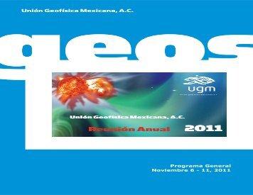 Programa General Noviembre 6 - 11, 2011 - UGM