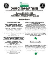 COMPOSTING MATTERS! - Compost Council of Canada