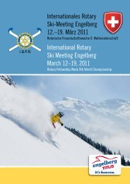 Internationales Rotary Ski-Meeting Engelberg 12 ... - Rotary Schweiz