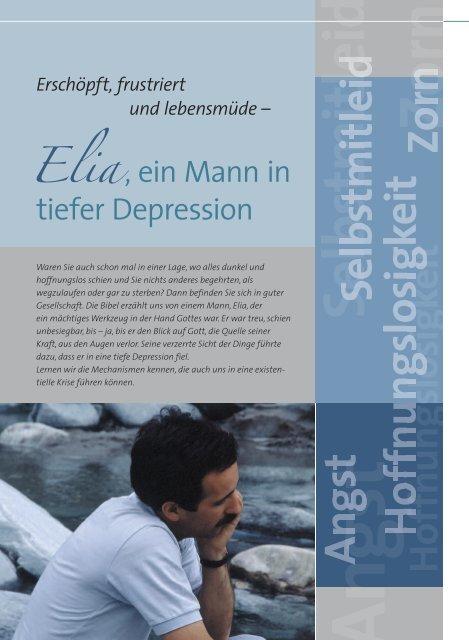 Elia - ein Mann in tiefer Depression - Ethos