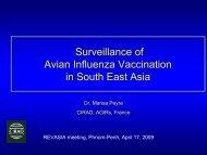 HPAI vaccination SEA_MPeyre.pdf - Flutrop CIRAD Avian Influenza ...