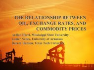 the relationship between oil, exchange rates, and commodity prices