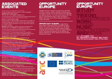 opportunity europe leaflet-3 - Office of the First Minister and Deputy ...
