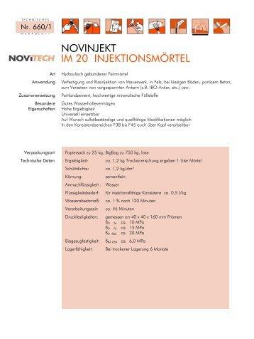 NOVINJEKT IM 20 INJEKTIONSMÖRTEL - Schretter & CIE