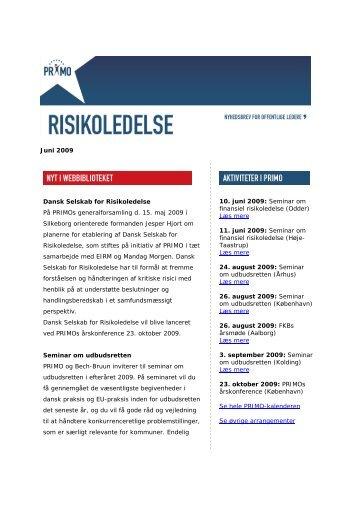 Download nyhedbrevet for juni 2009 - primo