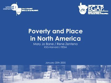 Poverty and Place in North America