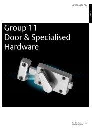 Group 11 - Door & Specialised Hardware - Assa Abloy