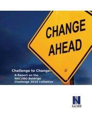 Challenge to Change: - NACUBO