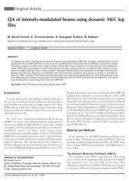 QA of intensity-modulated beams using dynamic ... - IBA Dosimetry
